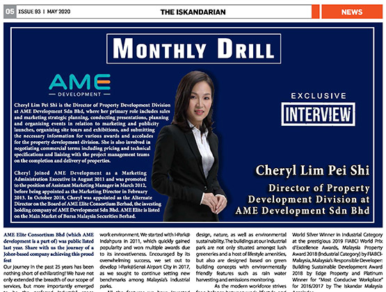 Monthly Drill with Cheryl Lim Pei Shi from AME Development Sdn Bhd