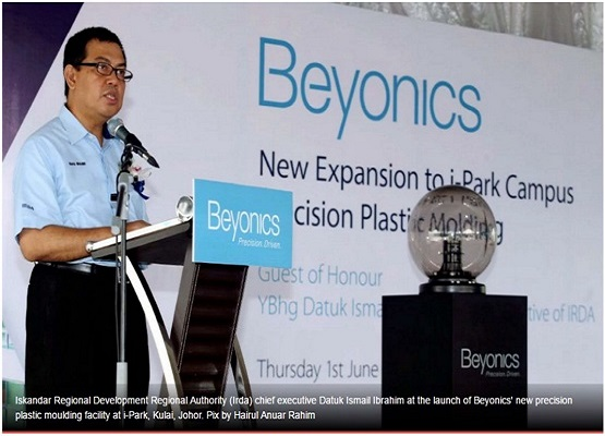 Beyonics Int'l to invest additional US $3 mil on new Johor facility