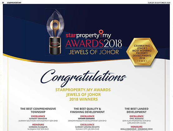 StarProperty.my Awards Jewels of Johor 2018 Winners