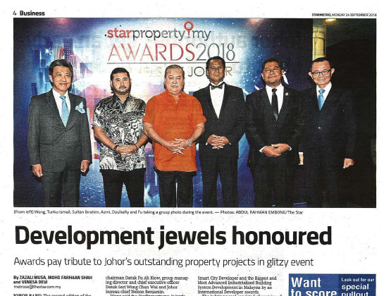 Development jewels honoured
